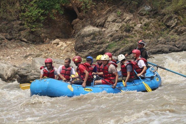 Team Members outing at Trishuli River